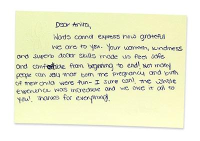 Dr Anita Sadaty Review Card 7