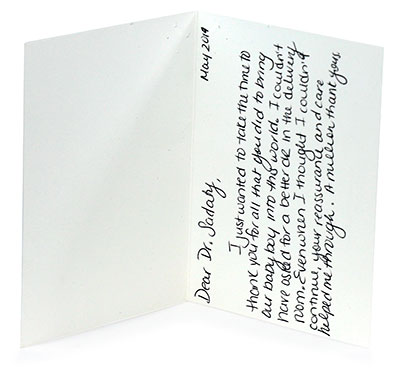 Dr Anita Sadaty Review Card 3