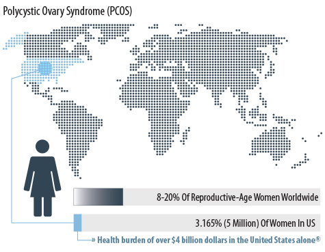 PCOS Infographic Information Statistics Polycystic Ovary Syndrome