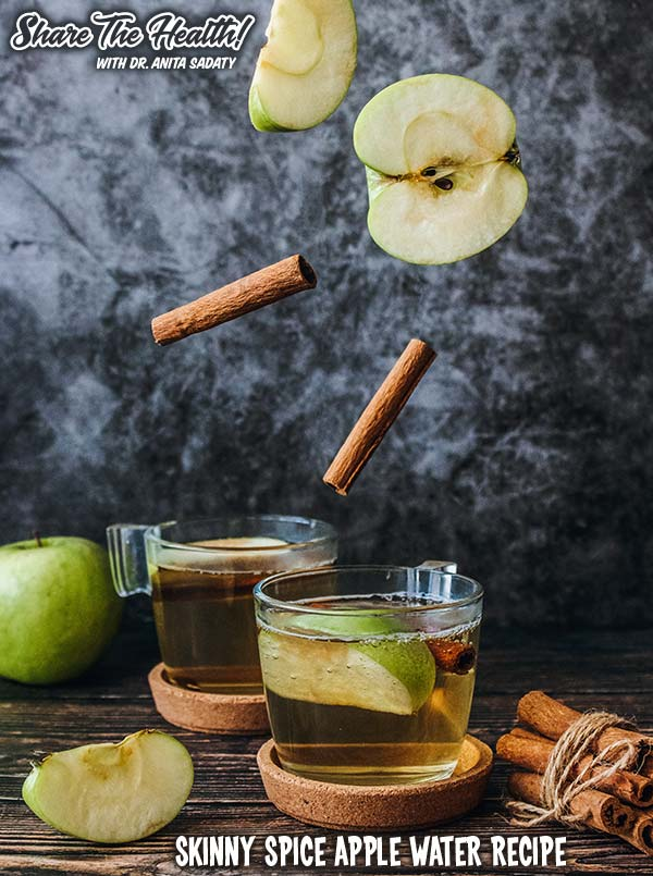 Share The Health - Skinny Spice Apple Water Recipe